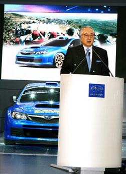 Mat Nagato, Director de Fuji Heavy Industries. Foto de Jorge Brichette