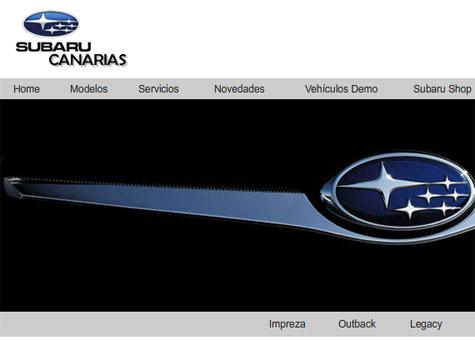 Página web Subaru Canarias