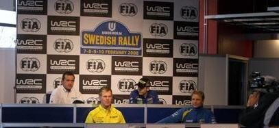 Petter Solberg, rueda de prensa en Suecia