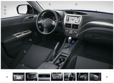 Equipamiento interior nuevo Subaru Impreza