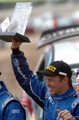 Petter Solberg, podio del Rally Acrópolis, Impreza WRC 2008
