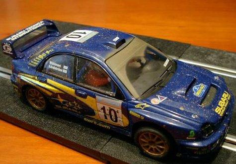 Réplica del Subaru Impreza de Scalextric