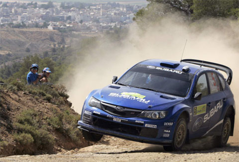 Rally Acrópolis, Subaru Impreza WRC 2008