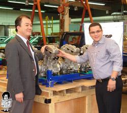 Uno de los motores donados