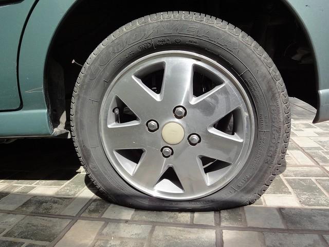 Neumático sin presión