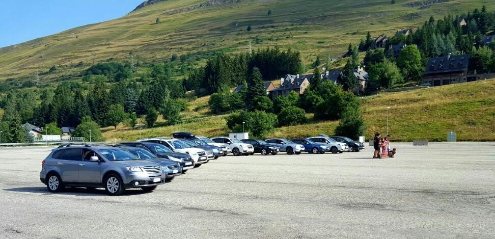 Grupo de Subarus en Trobada Vacacional