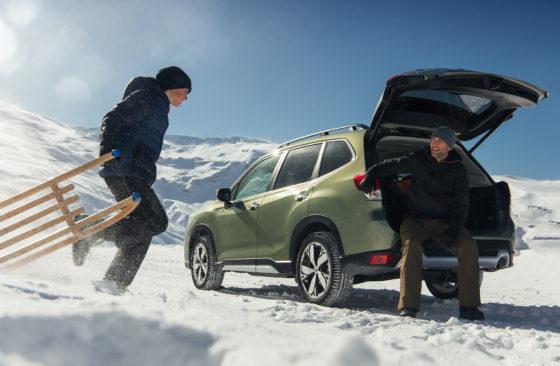 Subaru Forester ecoHybrid en nieve