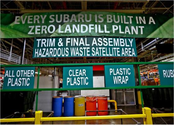 Sostenibilidad Subaru: Fábrica Indiana EEUU